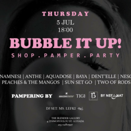 Bubble it up! Shop. Pamper. Party!
